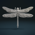 Download 3D printer templates Dragonfly Relief, Skazok