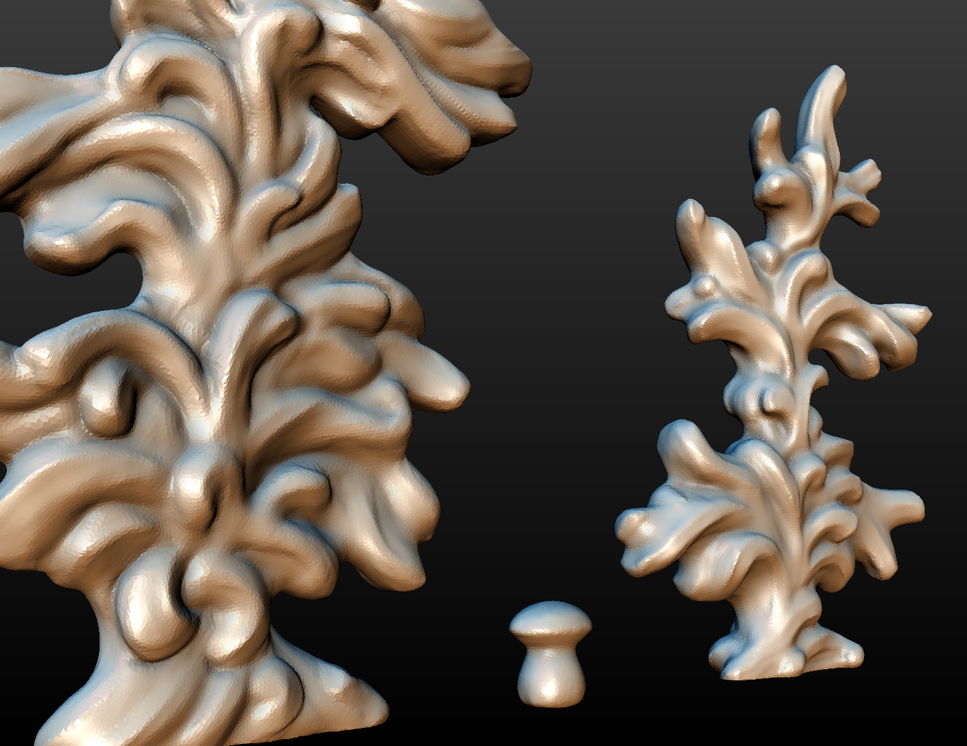 two_firtree-08.png Download 3DS file Two fir trees • 3D printer design, Skazok