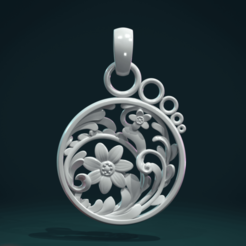 Download 3D model Scrollwork Pendant, Skazok