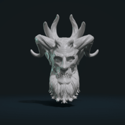 Download STL file Demon Head, Skazok