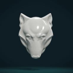 WHr-02.png Download STL file Wolf head relief • 3D print design, Skazok