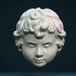 CH_01.jpg Download STL file Child Head I • 3D printer template, Skazok