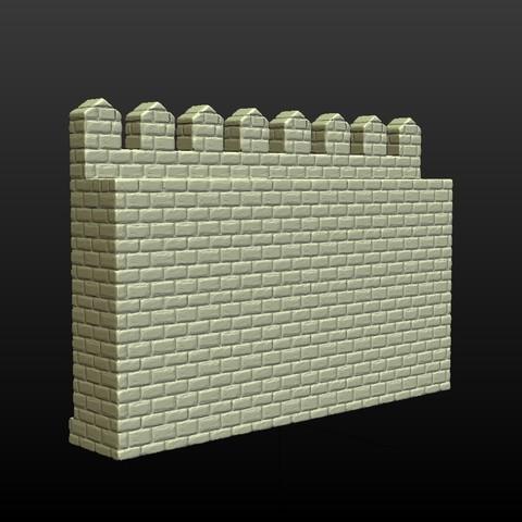 Castle_Wall-004.jpg Download 3DS file Castle wall • 3D printable design, Skazok