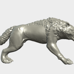 3D print files Fantasy Wolf, Skazok