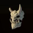 Download 3DS file Demon Mask • 3D printing design, Skazok
