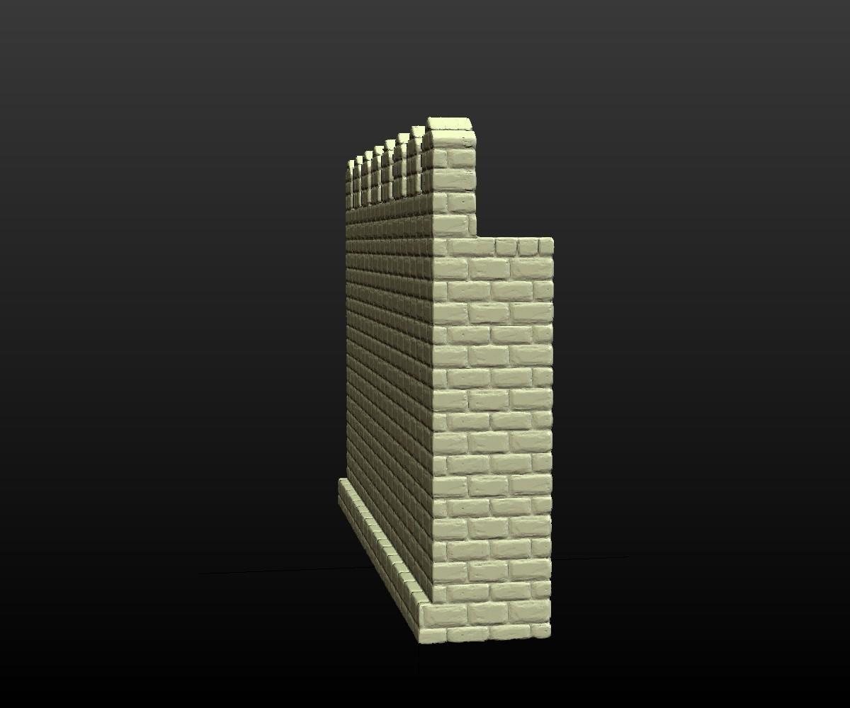 Castle_Wall-003.jpg Download 3DS file Castle wall • 3D printable design, Skazok