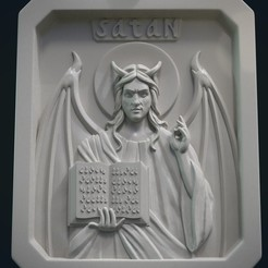 Download 3D printer designs Satan Relief and Pendant, Skazok