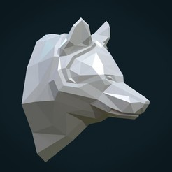 PWH-02.jpg Télécharger fichier STL Tête de loup basse poly • Design pour imprimante 3D, Skazok