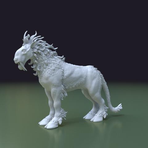 Fantasdy_beast-0003.png Download 3DS file Fantasy Beast • 3D printable template, Skazok