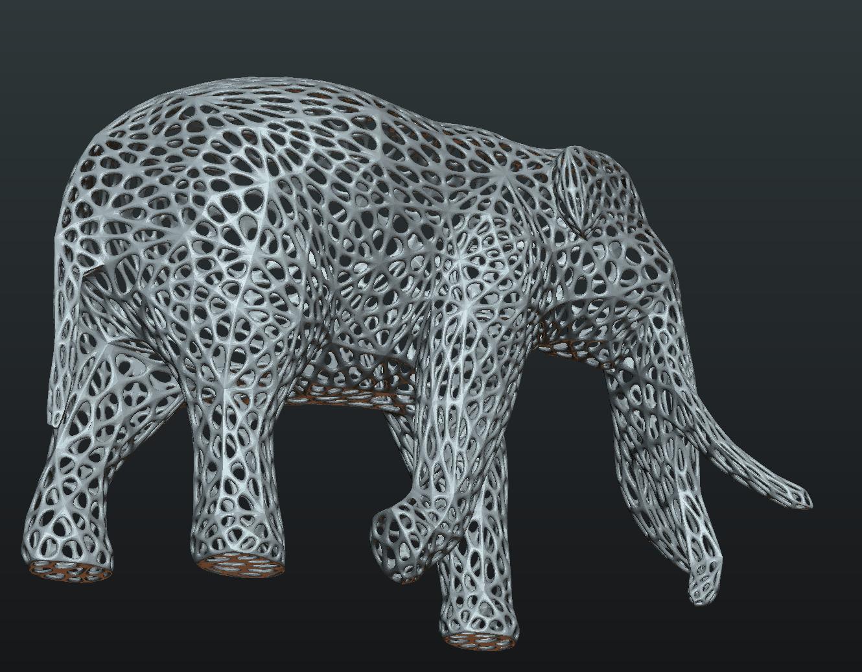 Mesh_Elephant-03.png Download STL file Mesh Elephant • 3D printer design, Skazok