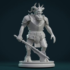Download 3D printing templates Demon figure III, Skazok