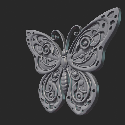 Butterfly_OPGL_28-02.png Download STL file Butterfly relief • Model to 3D print, Skazok