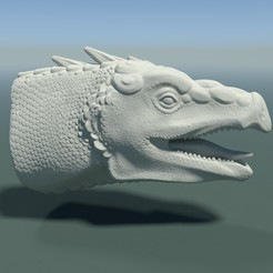 3D print model Dragon Head, Skazok