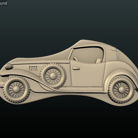 Car_box-08.jpg Download STL file Car Relief • Design to 3D print, Skazok