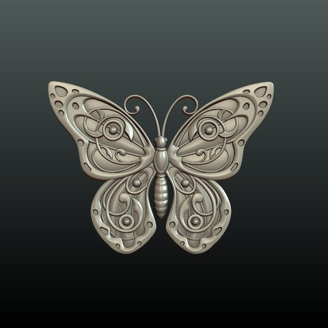 Butterfly_OPGL_27-09.jpg Download STL file Butterfly relief • Model to 3D print, Skazok