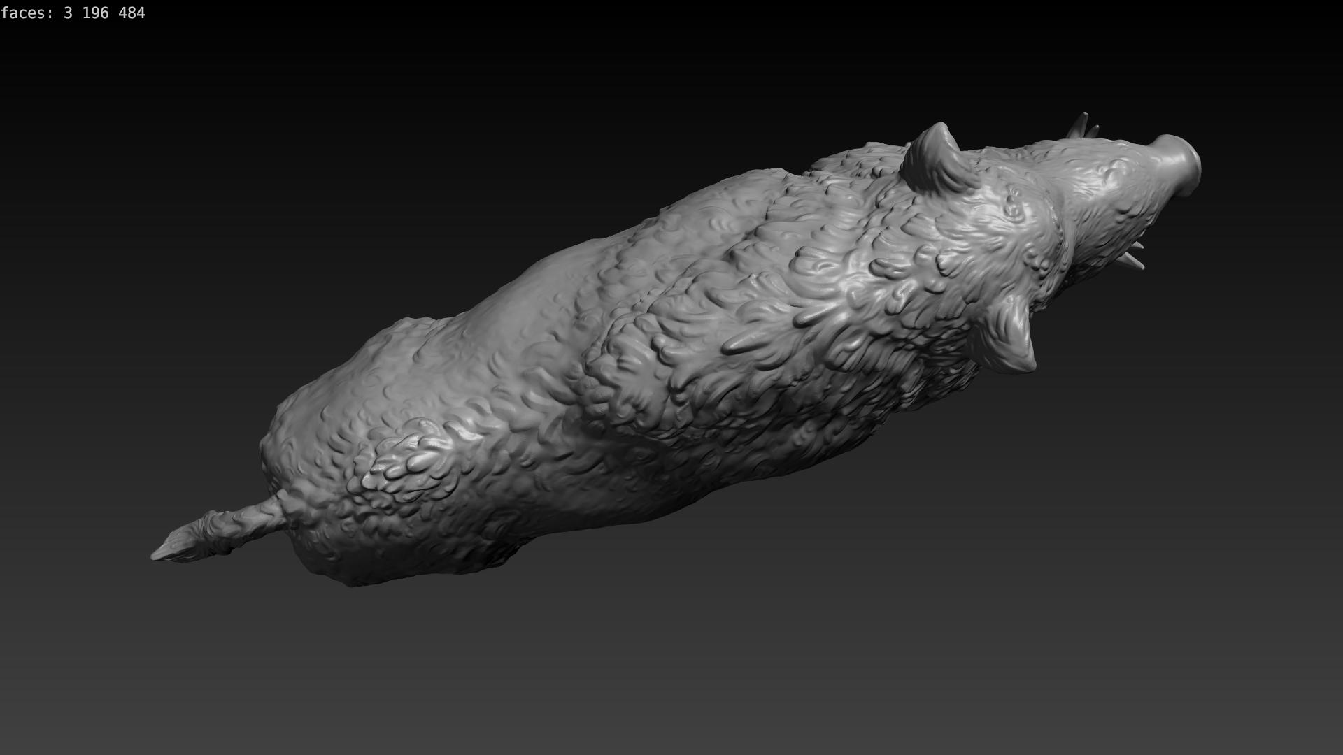 boar-07.png Download STL file Boar • 3D printable design, Skazok
