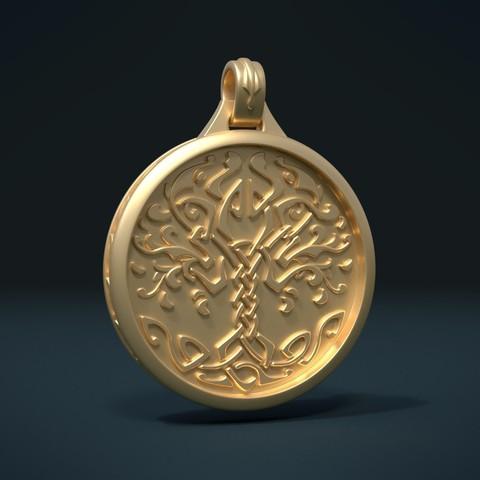 Télécharger plan imprimante 3D Pendentif d'arbre, Skazok
