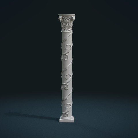 STL files Print ready Column, Skazok