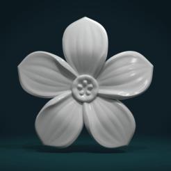 Flower-01.png Download STL file Flower I • 3D printable design, Skazok