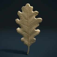 Oak_Leaf_x-0001.jpg Download OBJ file Oak Leaf • 3D printer template, Skazok