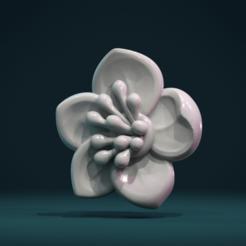 AF-01.png Download STL file Apple flower • 3D print design, Skazok