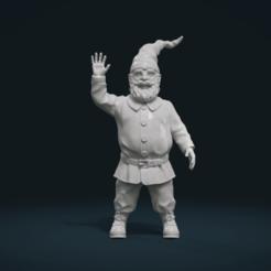 STL file Garden Gnome II, Skazok