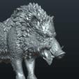 STL Wild Boar in static pose, Skazok