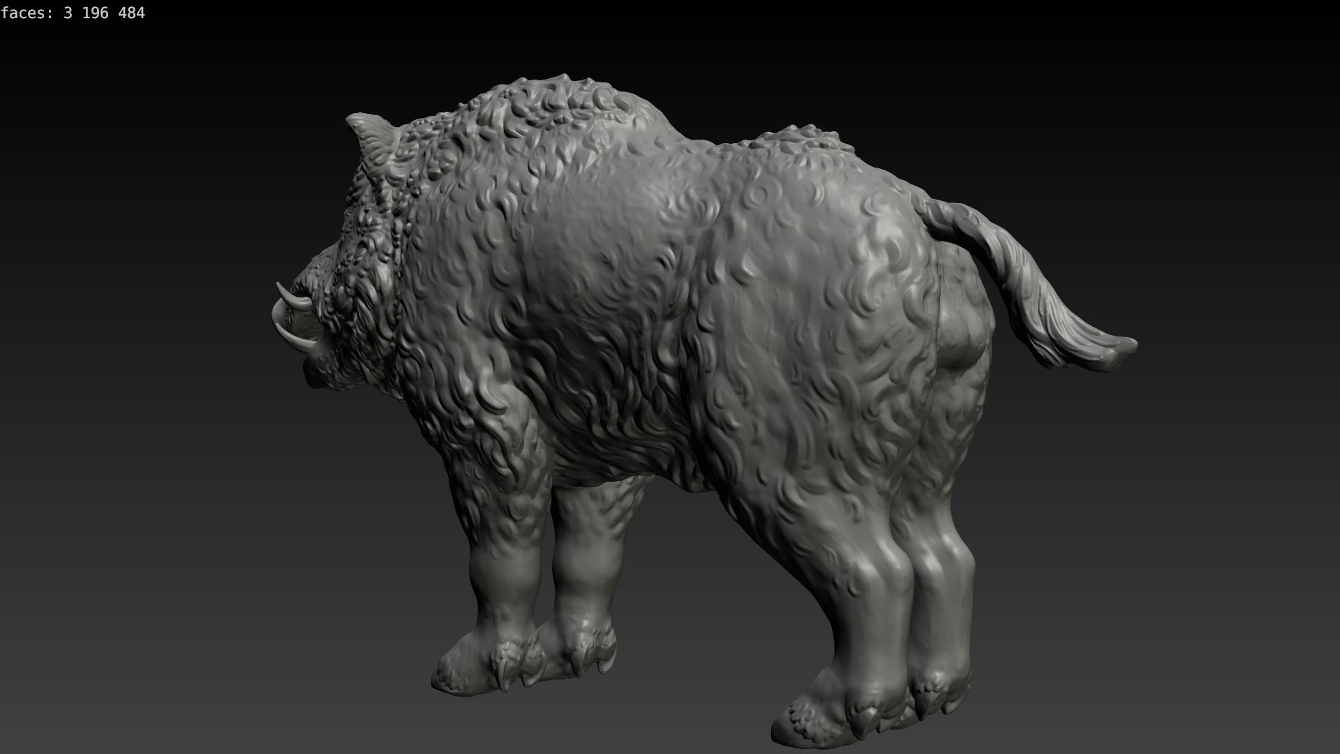 boar-03.png Download STL file Boar • 3D printable design, Skazok
