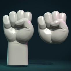 FistR-01x.jpg Download STL file Fist Hand relief • 3D print model, Skazok