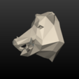 Boars_LP_Head-0008.png Download 3DS file Boar Head Low Poly • 3D print model, Skazok