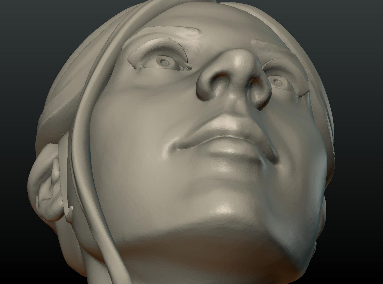 G_Head-12.png Download 3DS file Girls Head • 3D print object, Skazok