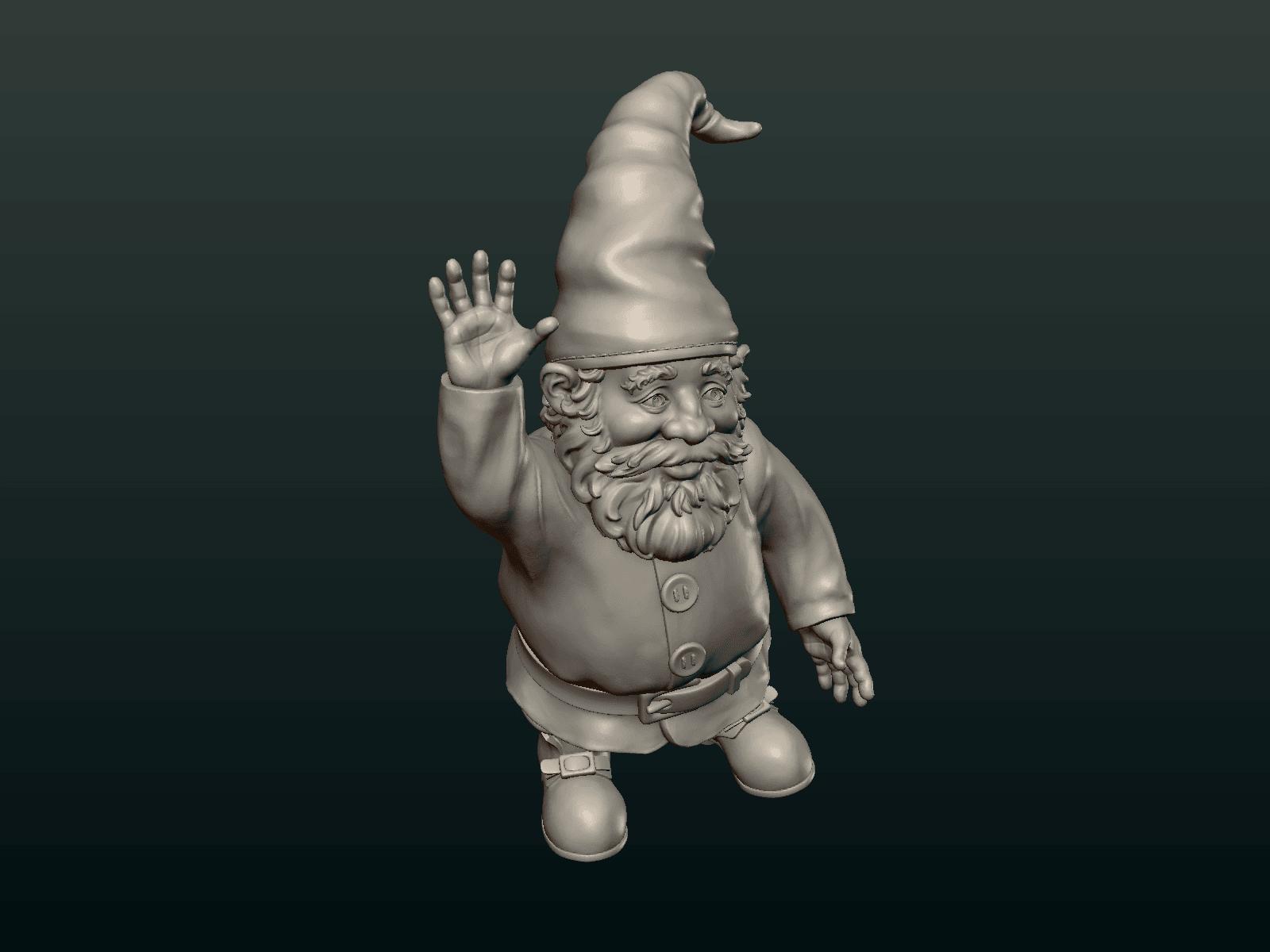 Garden_Gnome-04.png Download STL file Garden Gnome • 3D printing design, Skazok