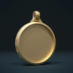 Download 3D printing designs Empty Pendant, Skazok