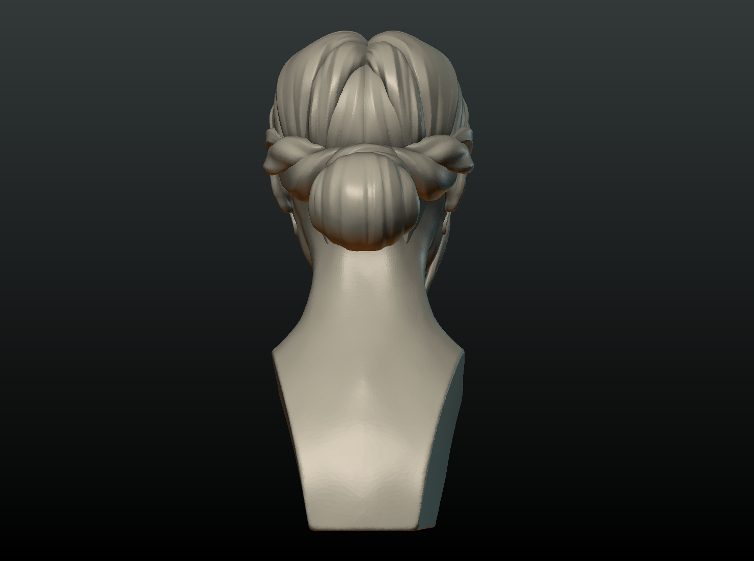 G_Head-05.png Download 3DS file Girls Head • 3D print object, Skazok