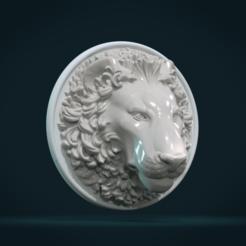 Lion_Head-01-1.png Download STL file Lion Head • Model to 3D print, Skazok