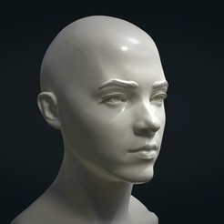 STL files Girl Head, Skazok