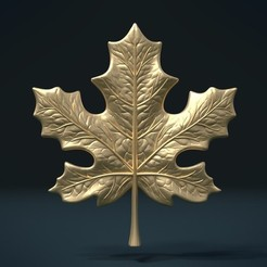 3D printer models Maple Leaf, Skazok