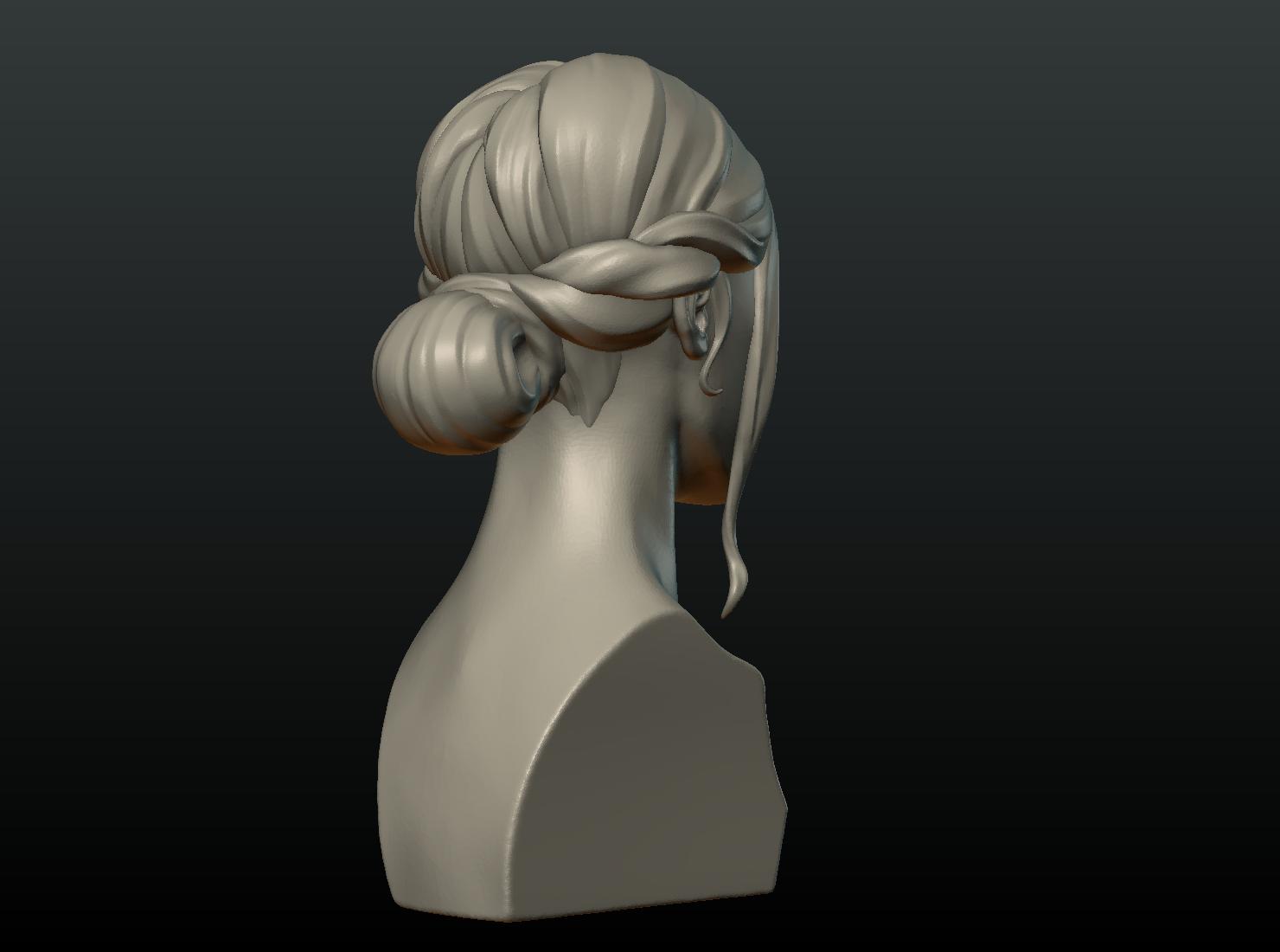 G_Head-04.png Download 3DS file Girls Head • 3D print object, Skazok