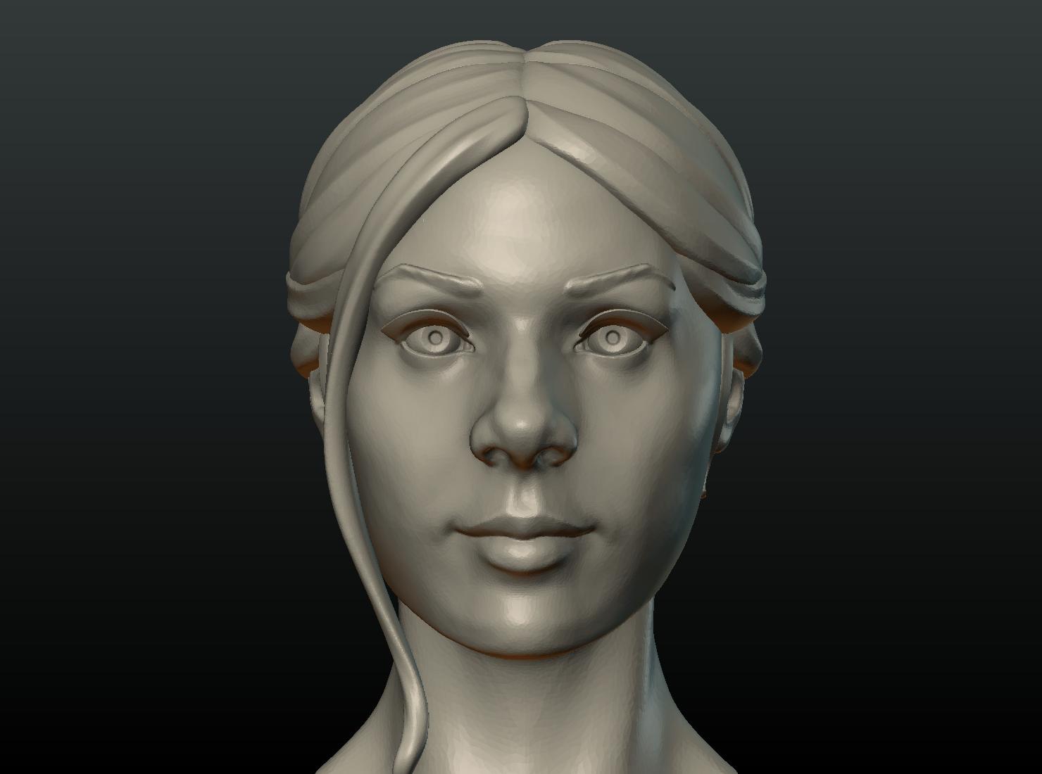 G_Head-13.png Download 3DS file Girls Head • 3D print object, Skazok