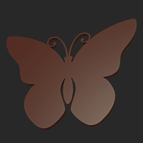 Butterfly_OPGL_28-05.png Download STL file Butterfly relief • Model to 3D print, Skazok