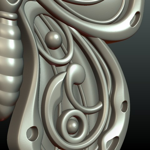 Butterfly_OPGL_27-08.jpg Download STL file Butterfly relief • Model to 3D print, Skazok