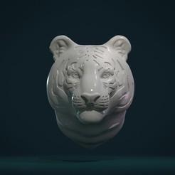 Download 3D printing designs Tiger Head, Skazok