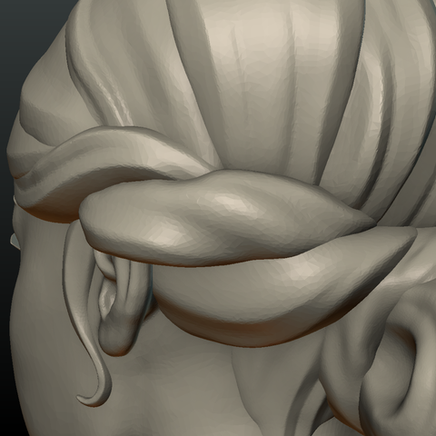 G_Head-11.png Download 3DS file Girls Head • 3D print object, Skazok