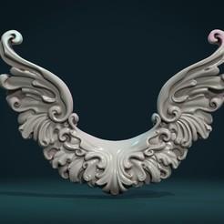 SW_01.jpg Download STL file Scroll Wings • 3D print object, Skazok