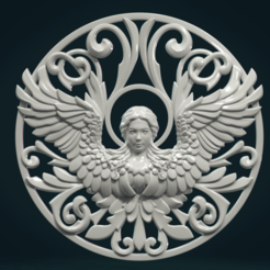 Angel_SW-01.png Download STL file Angel relief II • 3D printable design, Skazok