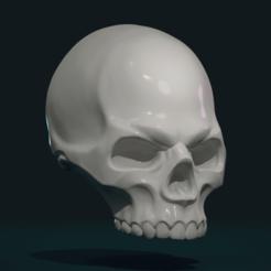 Download 3D printer templates Stylized Skull, Skazok