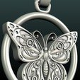 Download 3D printing designs Butterfly Pendant, Skazok