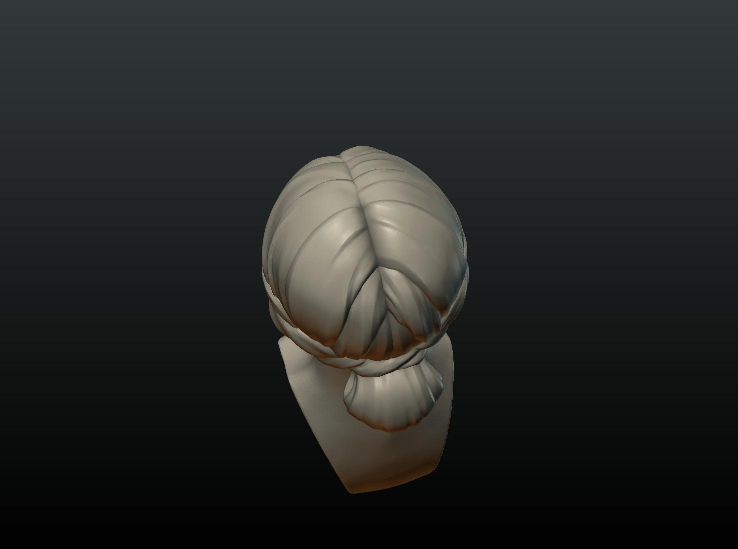 G_Head-08.png Download 3DS file Girls Head • 3D print object, Skazok