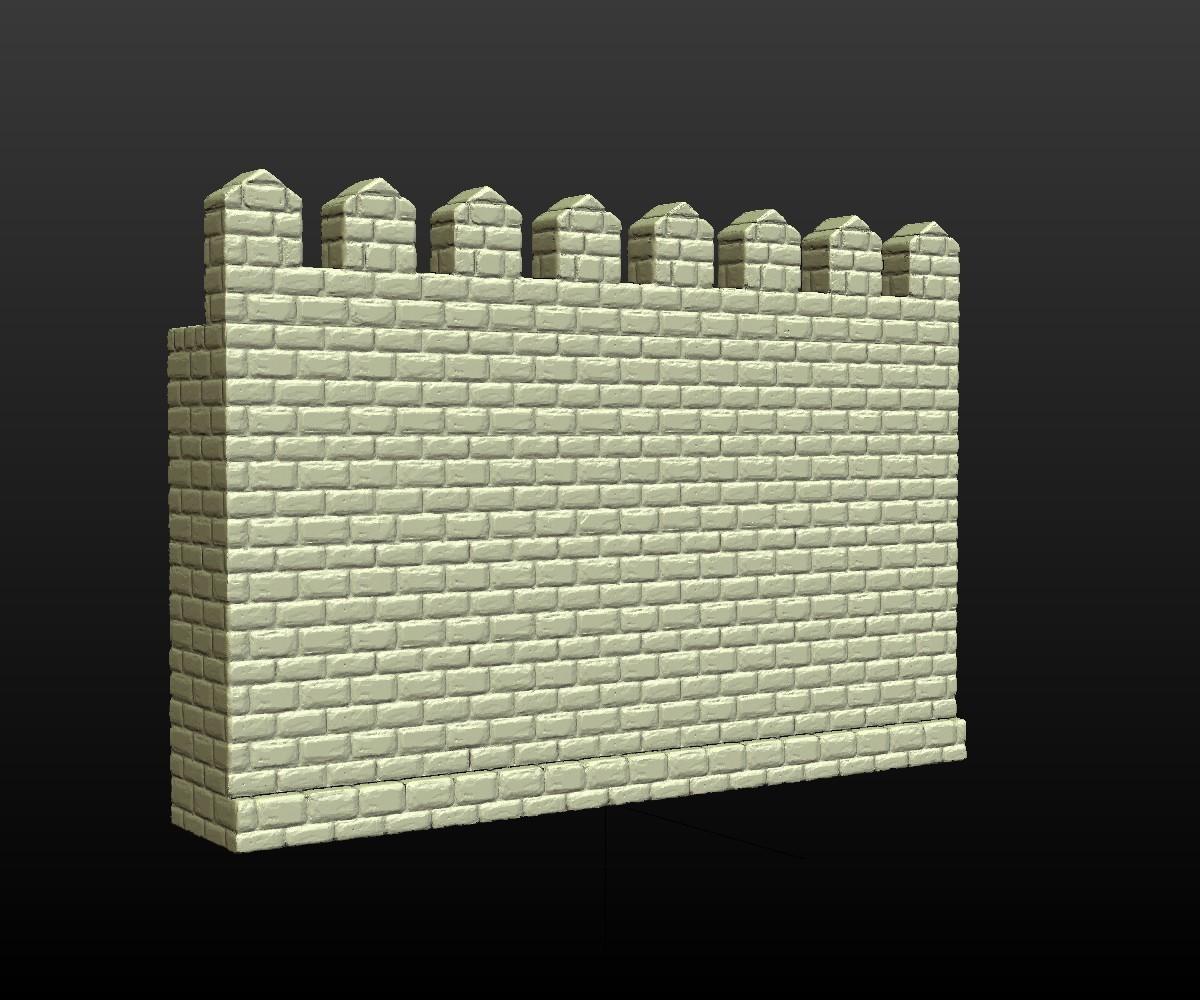 Castle_Wall-001.jpg Download 3DS file Castle wall • 3D printable design, Skazok