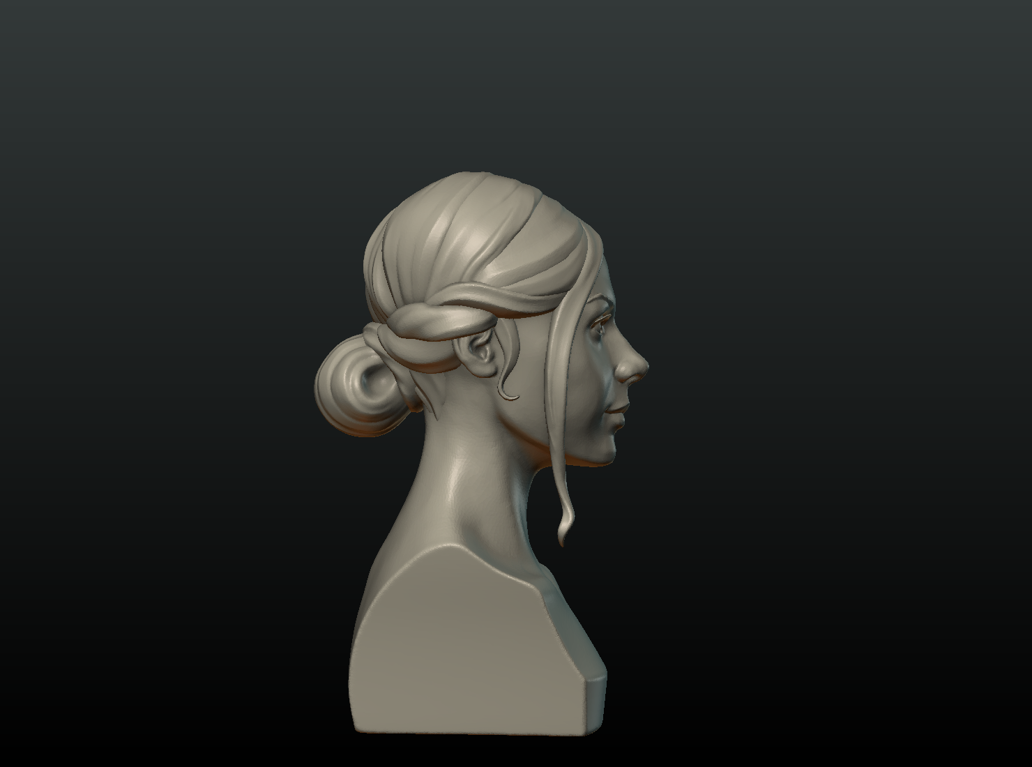 G_Head-01.png Download 3DS file Girls Head • 3D print object, Skazok
